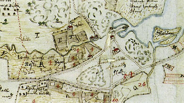 Karta Vanersborg.Bratte Vanersborgs Foregangare Vanersborgs Museum